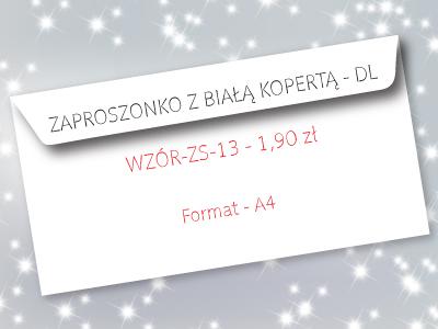 zaproszenie na studniówkę wzór ZS-13