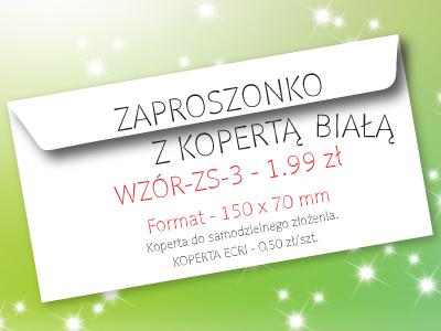 zaproszenie na studniówkę wzór ZS-3