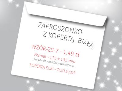 zaproszenie na studniówkę wzór ZS-7