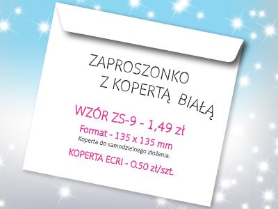 zaproszenie na studniówkę wzór ZS-9